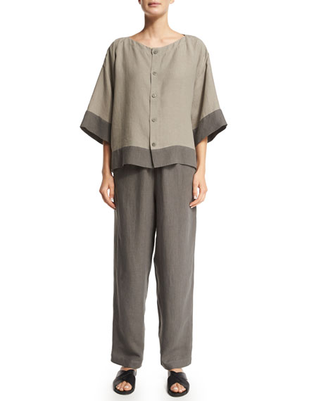 Nobu Drawstring Linen Trousers