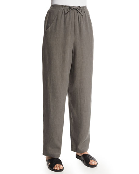 Nobu Drawstring Linen Trousers