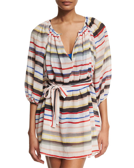 El Matador Striped Tunic Coverup