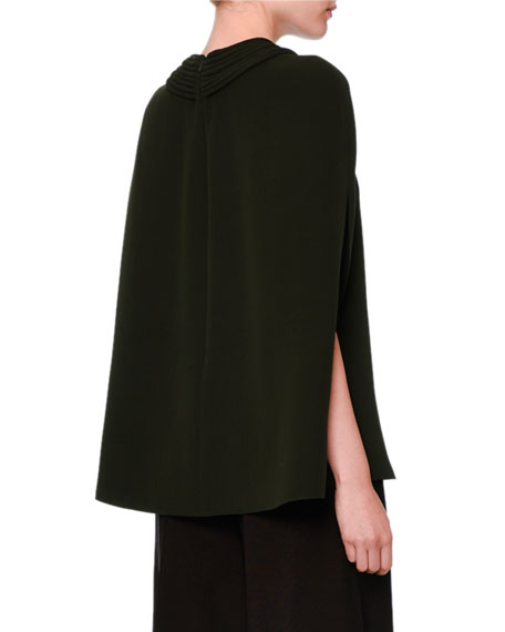 Silk Cady Couture Cape Top