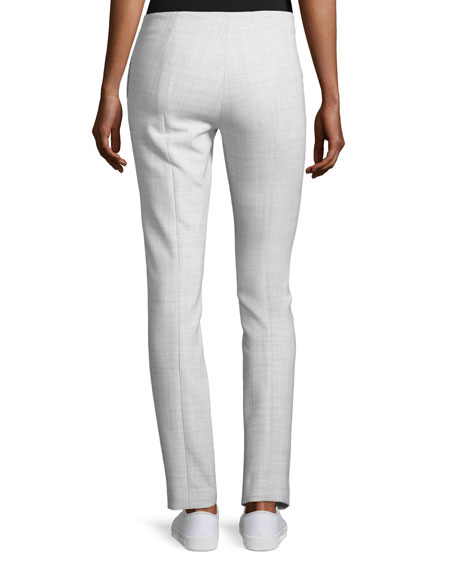 Tennyson B Pioneer Straight-Leg Pants, Light Grey Melange