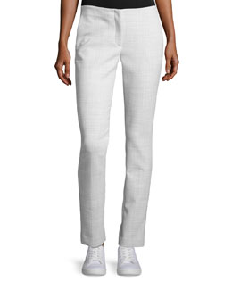 Tennyson B Pioneer Straight-Leg Pants, Light Grey Melange