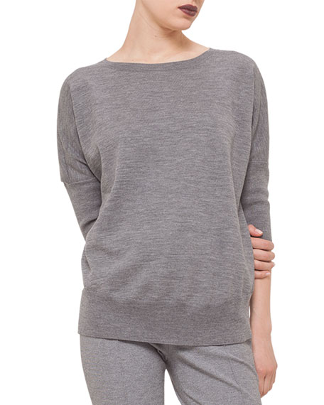 Akris punto Dolman-Sleeve Slub-Knit Sweater