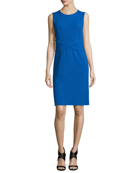 Diane von Furstenberg Evita Sleeveless Crepe Sheath Dress,