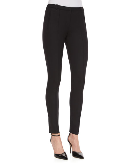 Stovepipe Vertical-Seam Pants