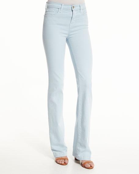 Dasha High-Rise Flare-Leg Jeans, Winter Sky