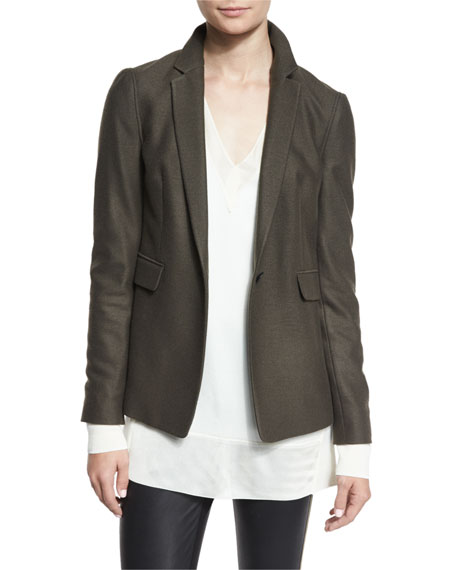 Club Wool One-Button Jacket