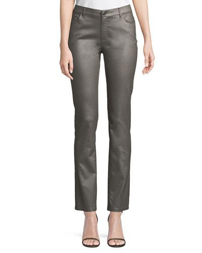 Thompson Frosted Denim Slim-Leg Jeans