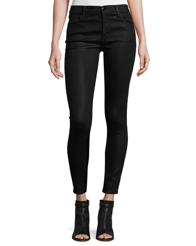 Mid-Rise Coated Skinny Ankle Jeans, Fearless