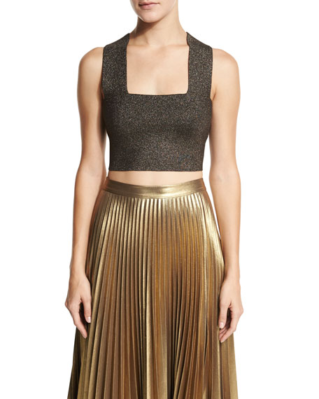Ali Metallic Crop Top