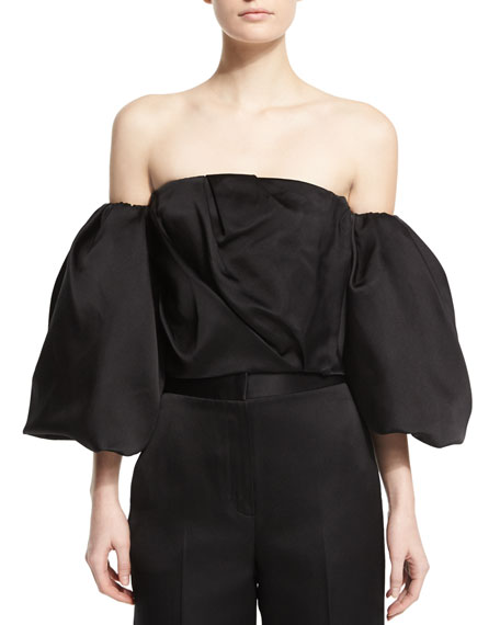 Amilli Off-The-Shoulder Top, Black