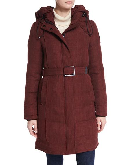 Astrid Belted Coat w/ Hood