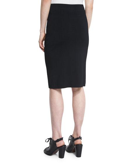Lucine Pencil Skirt, Black