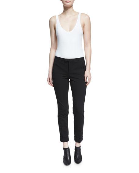 Slim Cropped Ponte Pants