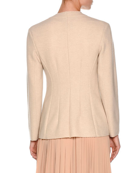 Couture Cashmere Two-Button Jacket, Oatmeal White