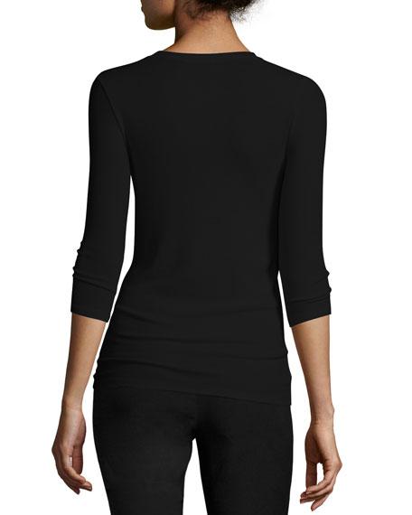 Jackie Knit Ballet Top, Black