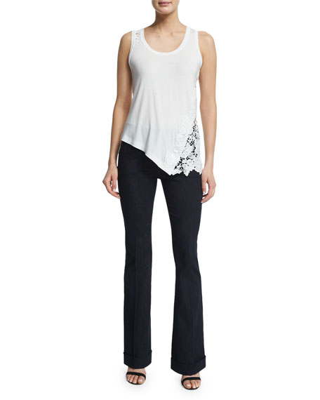 Bailee Mid-Rise Flared Jeans, Dark Night Wash