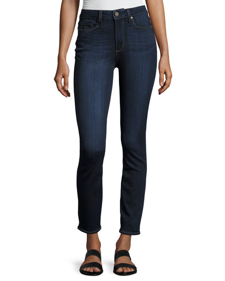PAIGE Hoxton Hartmann High-Rise Skinny Jeans, Blue