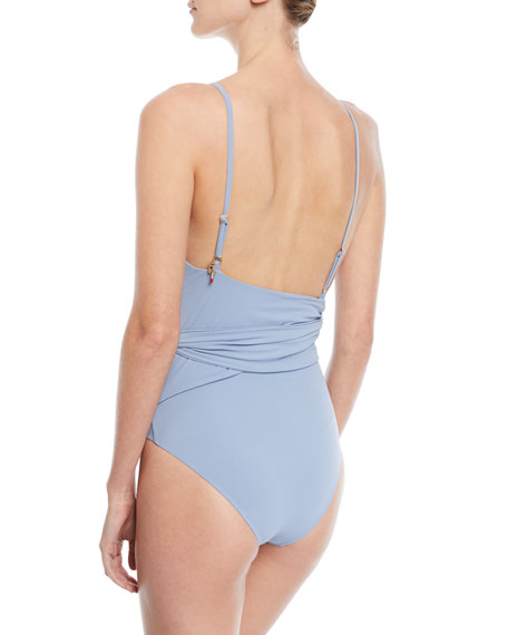 Timeless Basics Wrap One-Piece Swimsuit