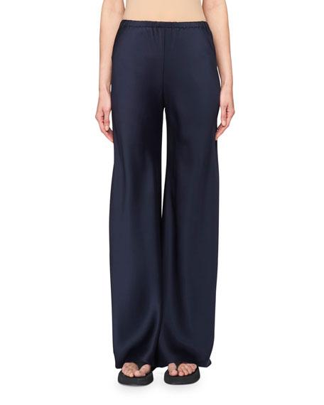 Gala Straight-Leg Pants, Light Gray