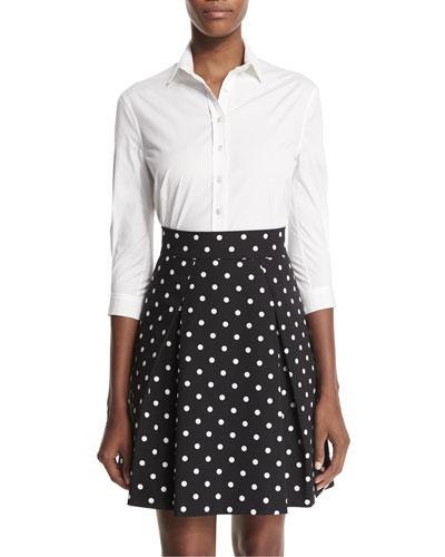 Polka-Dot Party Skirt, Black/White