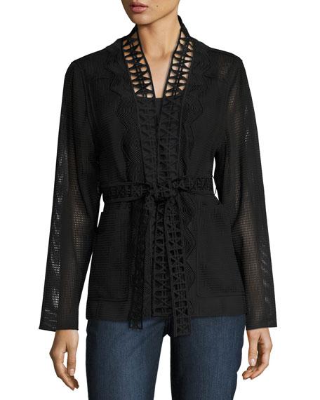 Maliah Textured Topper Jacket, Black