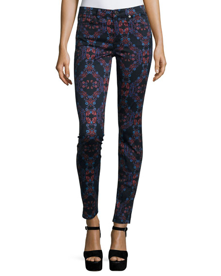 7 For All Mankind The Mid-Rise Kaleidoscope Skinny