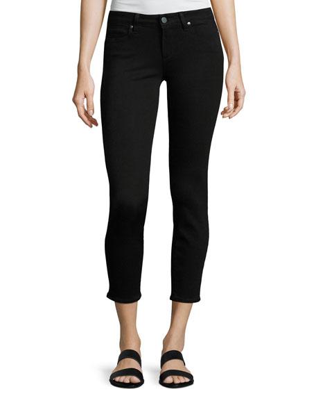 Verdugo Crop Mid-Rise Skinny Jeans, Black