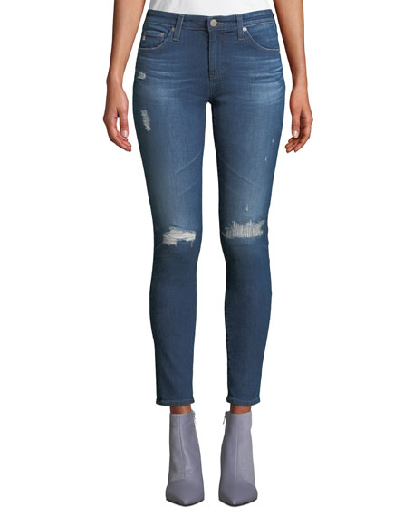 Ag THE LEGGING ANKLE 8 YEARS WHISTLER JEANS, BLUE