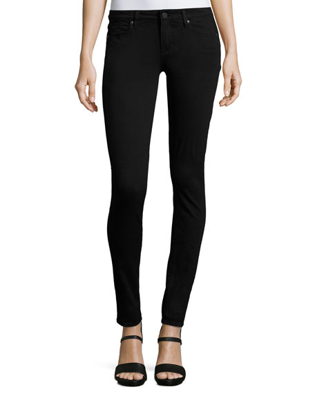 Verdugo Mid-Rise Ultra Skinny Jeans, Black Shadow