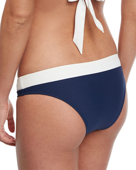 Cape Cod Striped Hipster Swim Bottom, Navy