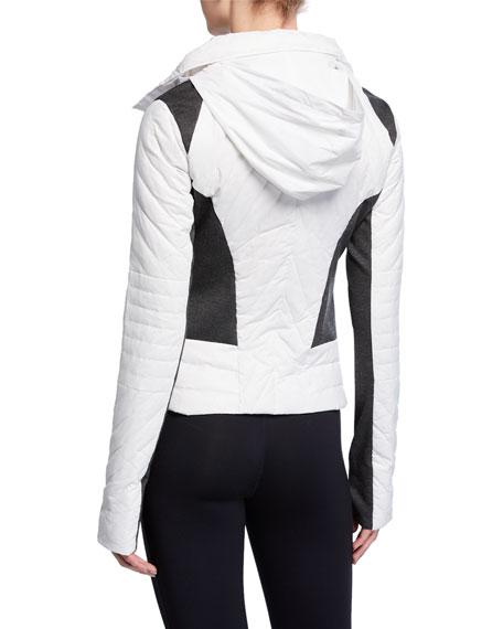 Motion Paneled Puffer Jacket, Black/Charcoal Heather