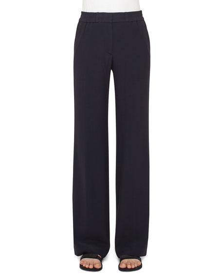 Marla Wide-Leg Pants, Navy