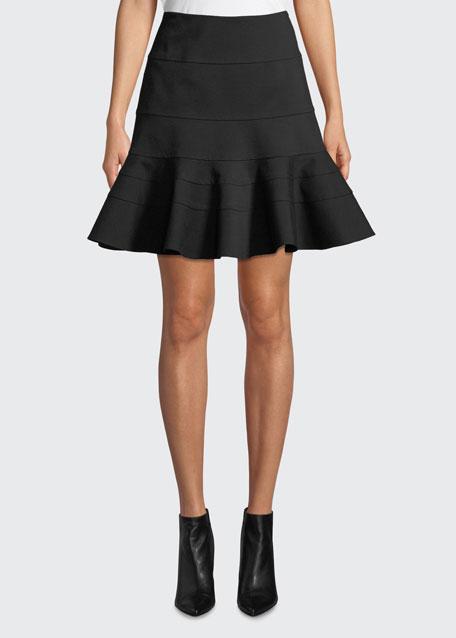 Akris punto Flippy Seamed-Jersey Skirt 2012e397f284