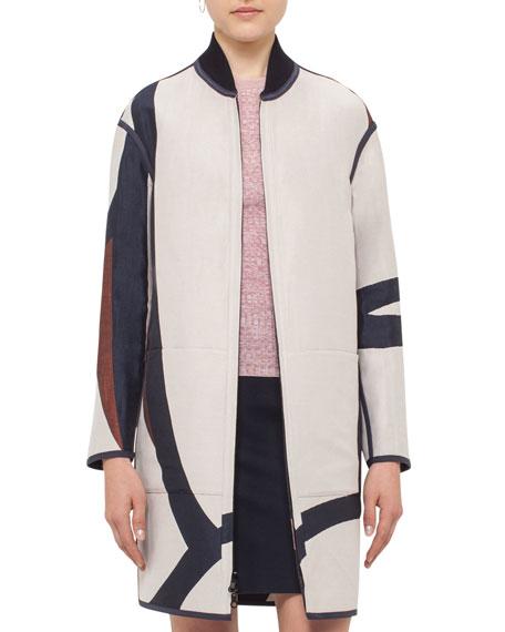 Reversible Jacquard Long Coat, Multi