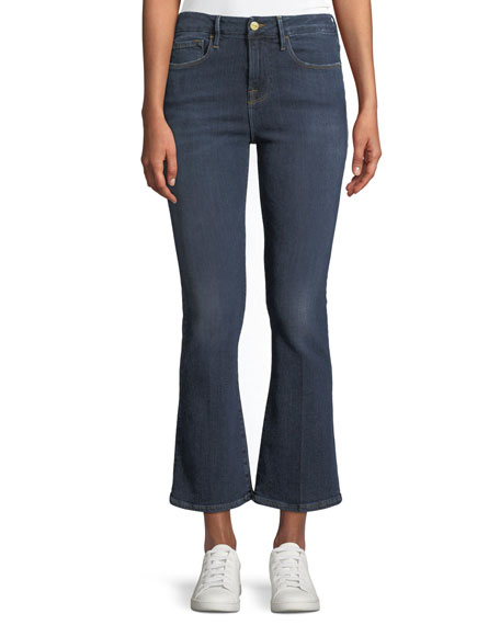 FRAME Le Crop Mini Boot-Cut Jeans, Spring Street