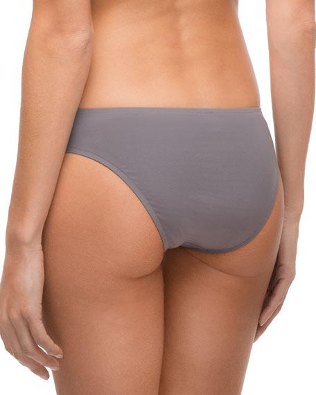 Ajourage Couture Laser-Cut Low-Rise Swim Bikini Bottoms