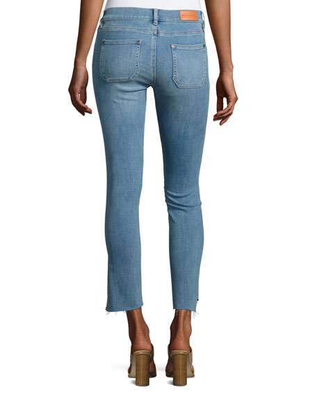 Paris Stagger-Hem Skinny Jeans