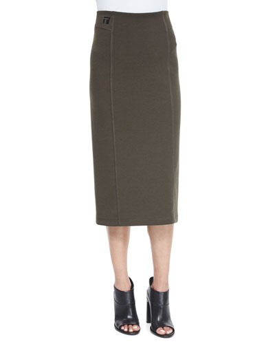 Double-Knit Ponte Skirt