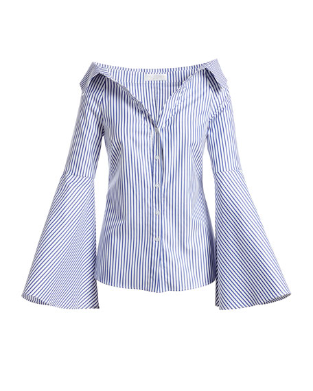 Persephone Striped Décolleté Shirt