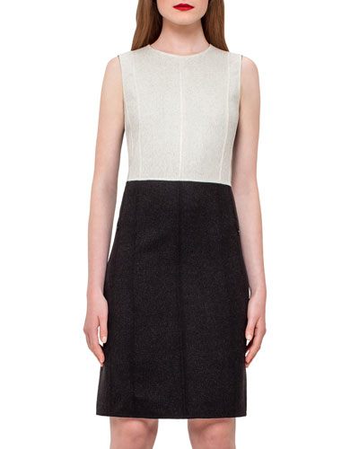 Reversible Double-Face Wool Sheath Dress