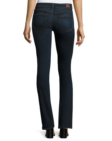 Manhattan Slim Boot-Cut Jeans, Navy