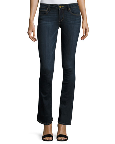 Manhattan Slim Boot-Cut Jeans, Navy