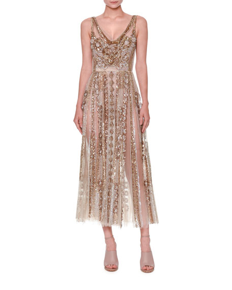 43ab0e64271 Valentino Sleeveless Sequined Tulle Gown