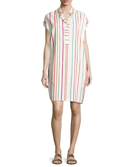 Abito April Santa Cruz Striped Shirtdress