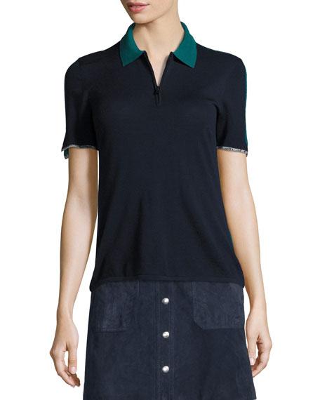 Alice Colorblock Half-Zip Polo Shirt