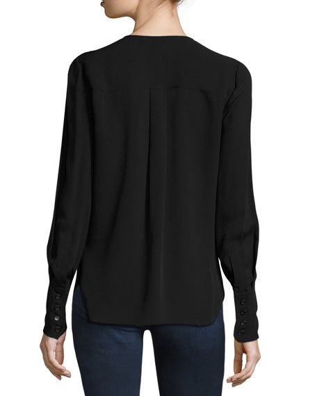 Vicky Pleated Silk Shirt