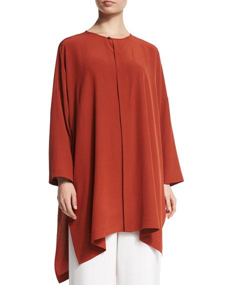 Wide Silk Shirt Jacket