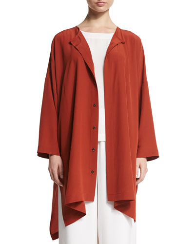 Wide Silk Shirt Jacket