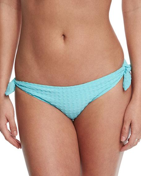 Textured Tie-Side Swim Bottom